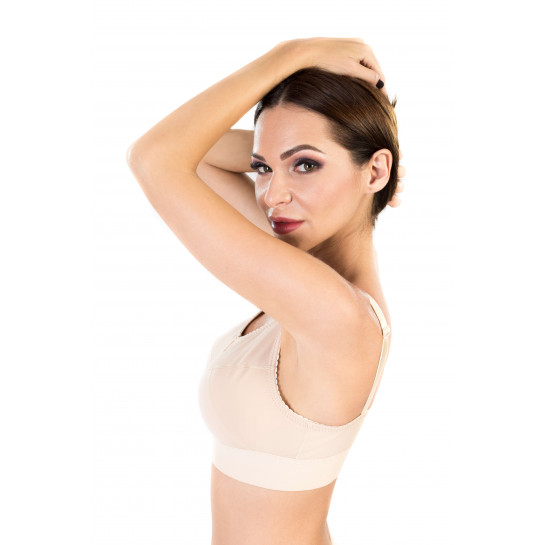 Compressive Support Bra Magnetique, Stage l, Beige