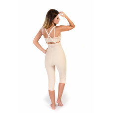 High Waist Lipo Panty Bellow Knee, Stage I, Beige