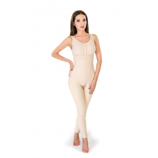 High Waist Lipo Panty Above the Ankle without Zipper, Stage II, Beige