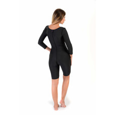 Long Sleeve Above the Knee Bodysuit, Stage I, Black