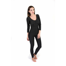 Long Sleeve Above the Ankle Bodysuit, Stage I, Black