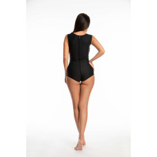 Sleeveless Panty Length Bodysuit, Stage I, Black