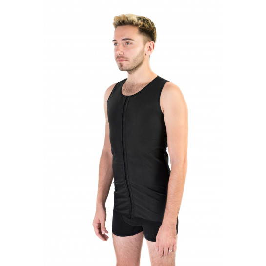 Compressive Male Vest, Stage I, Black