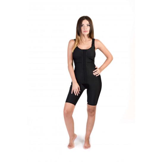 Sleeveless Above the Knee Bodysuit, Stage I, Black