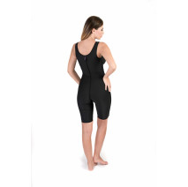 Sleeveless Above the Knee Bodysuit, Stage I, Black
