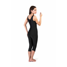 Sleeveless Bellow the Knee Bodysuit, Stage I, Black